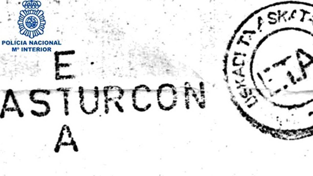 Carta firmada por el autodenominado ETA-ASTURCÓN