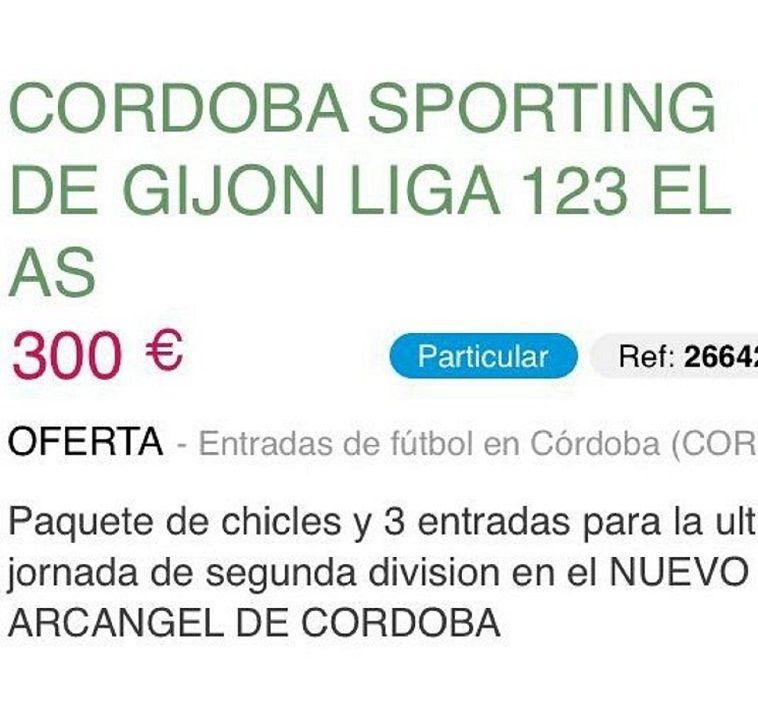 Reventa Córdoba - Sporting