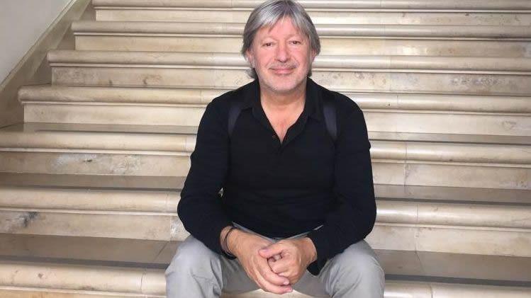 Serxio Iglesias, docente de Lingua en Cee que tuvo  una beca Piale en Lisboa