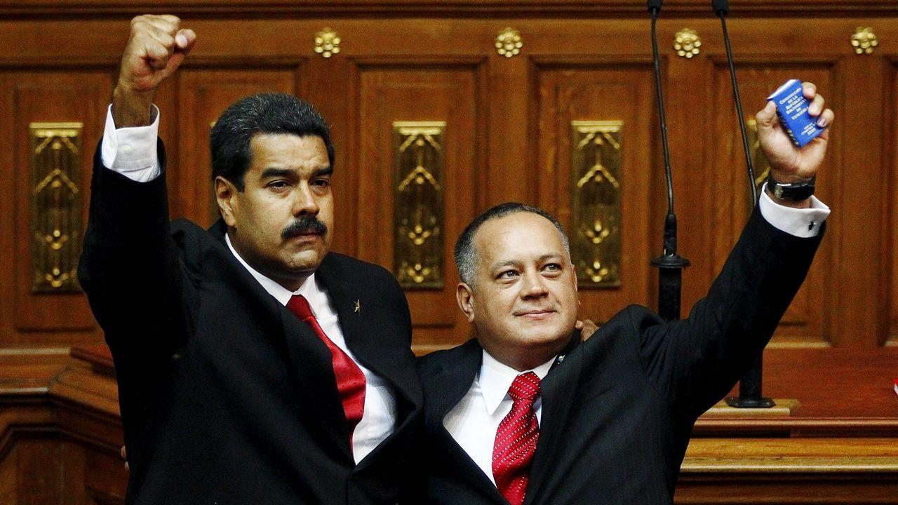 .Nicolás Maduro y Diosdado Cabello