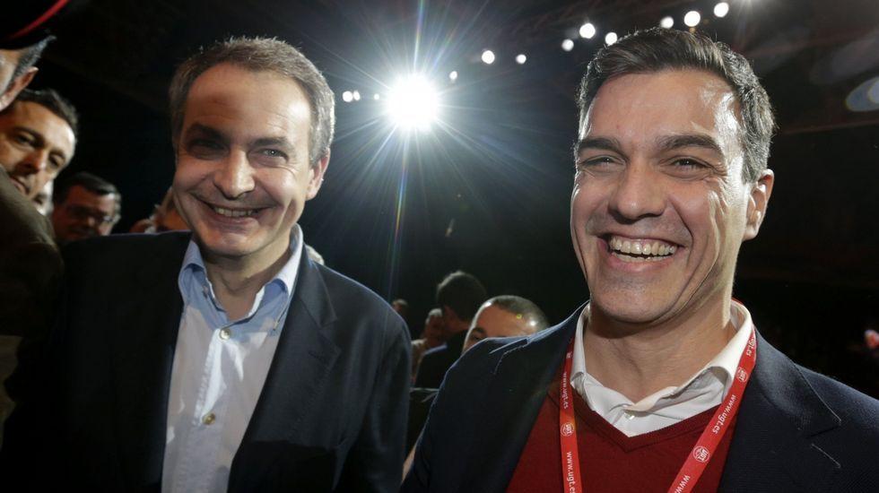 .Zapatero en Madrid con Pedro Sánchez el 9 de marzo