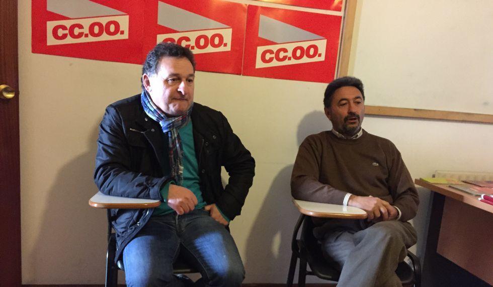 Las manifestaciones del 1 de mayo.José Luis García Pedrosa y José Ramón Piñeiro Piñeiro de CC. OO.
