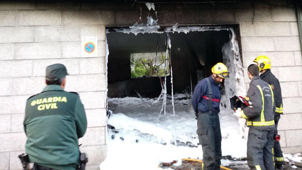 Incendio de una vivienda en Arcade