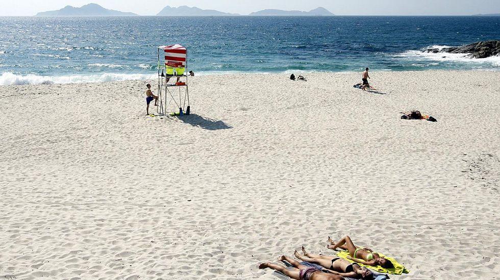 Playa de Fortiñon, en Saiáns, Vigo