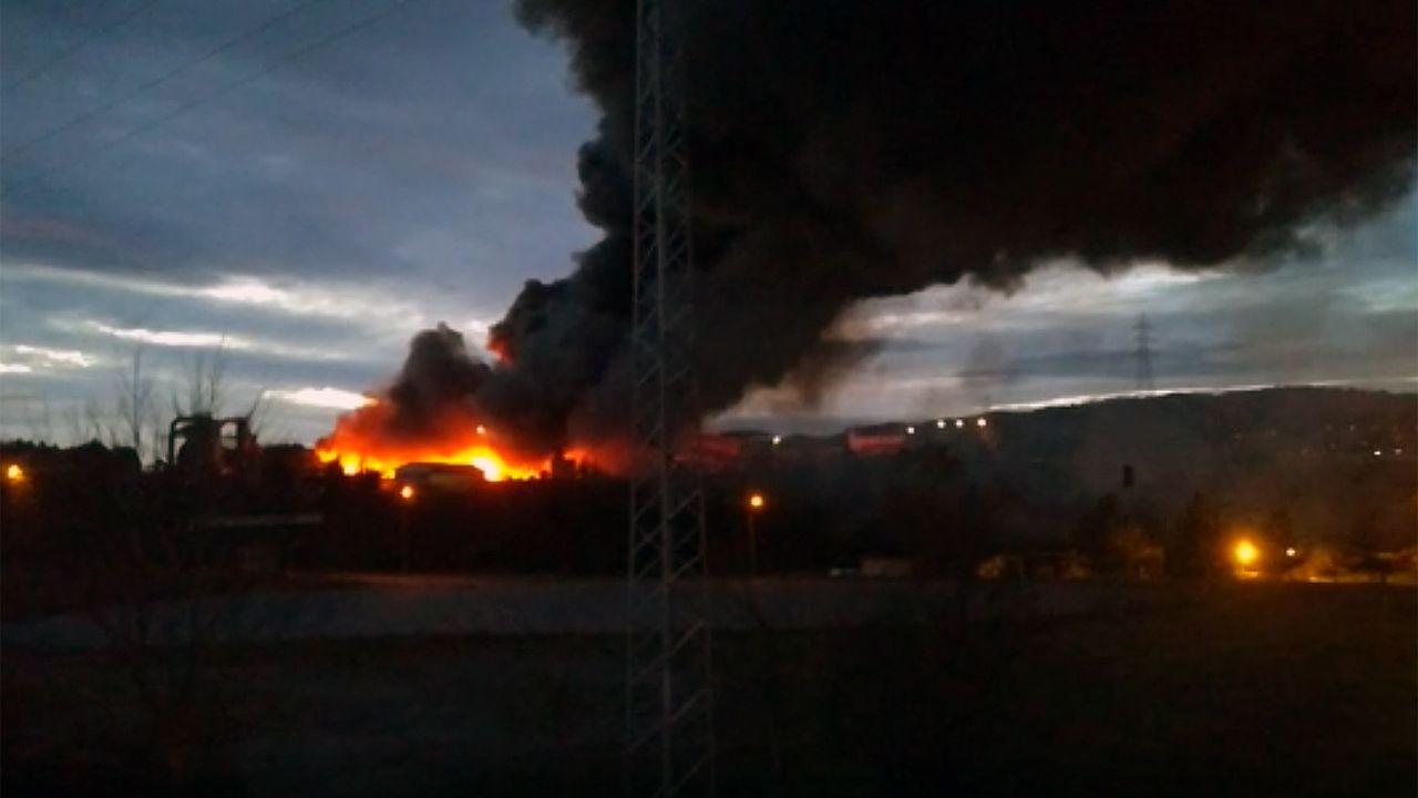 Incendio en San Andrés de Tacones