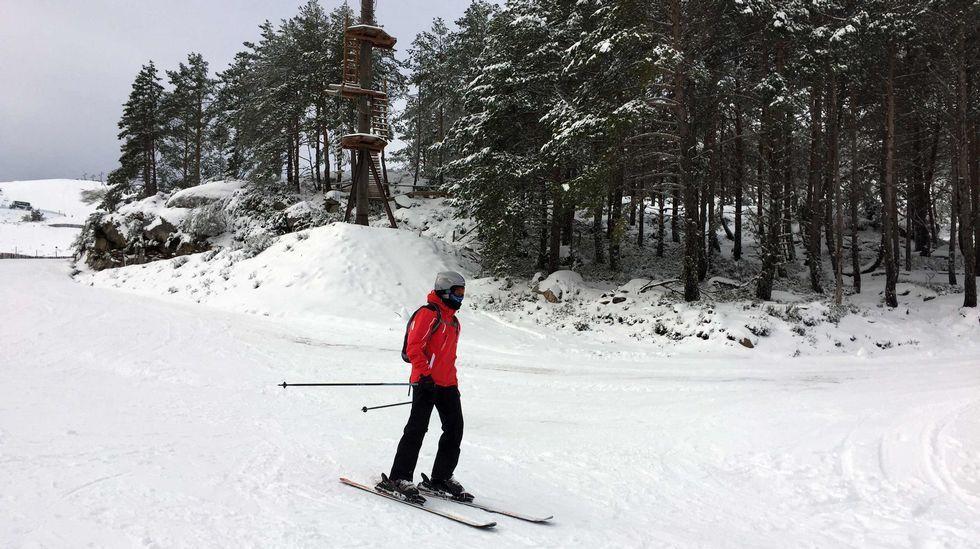 La nieve ya cubre Pajares.La temporada pasada comenzó el 12 de enero