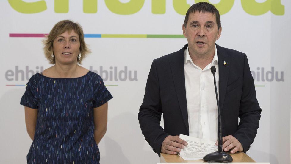 La CUP: «Vamos a votar, aunque encarcelen a Puigdemont y a los 72 diputados».Arnaldo Otegi