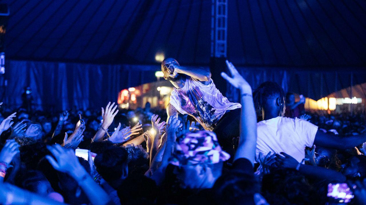 .Tory Lanez en su concierto en Reading Festival 2017, en Inglaterra