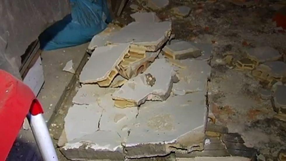 Así quedó una vivienda de Vigo tras la explosión de dos desodorantes