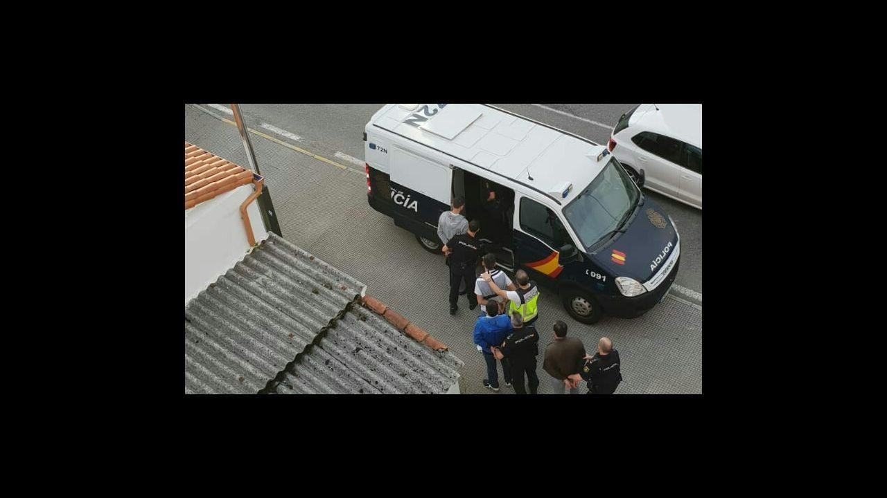 .Momento de la detención, el pasado mes de julio