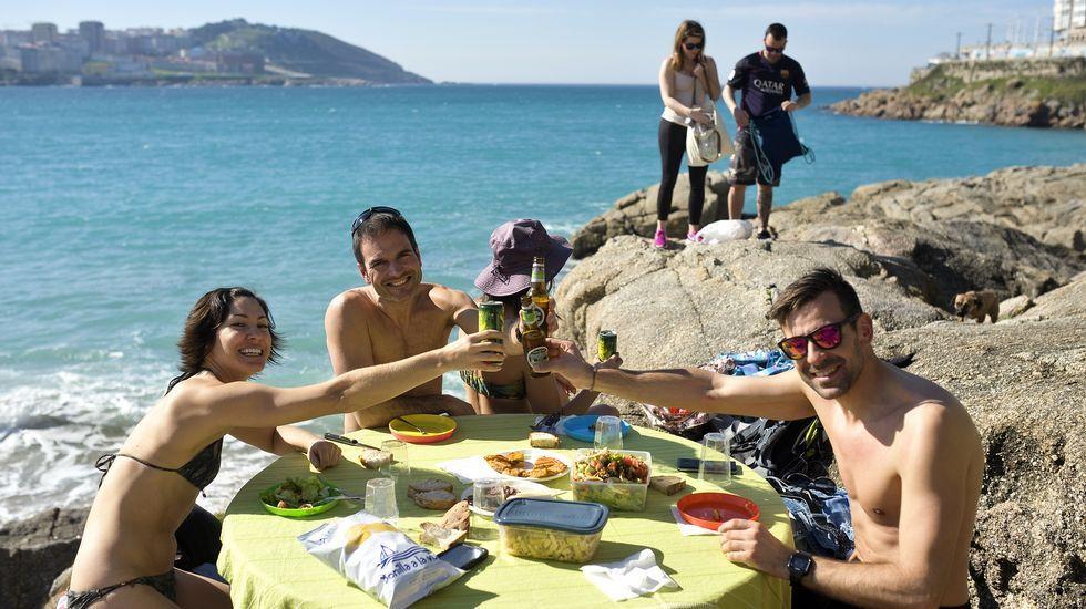 En A Coruña, algunos viven una jornada totalmente veraniega