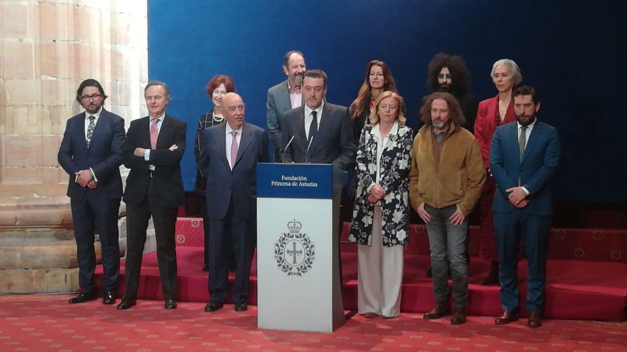 El jurado del Premio Princesa de Asturias de las Artes, durante la proclamación del fallo