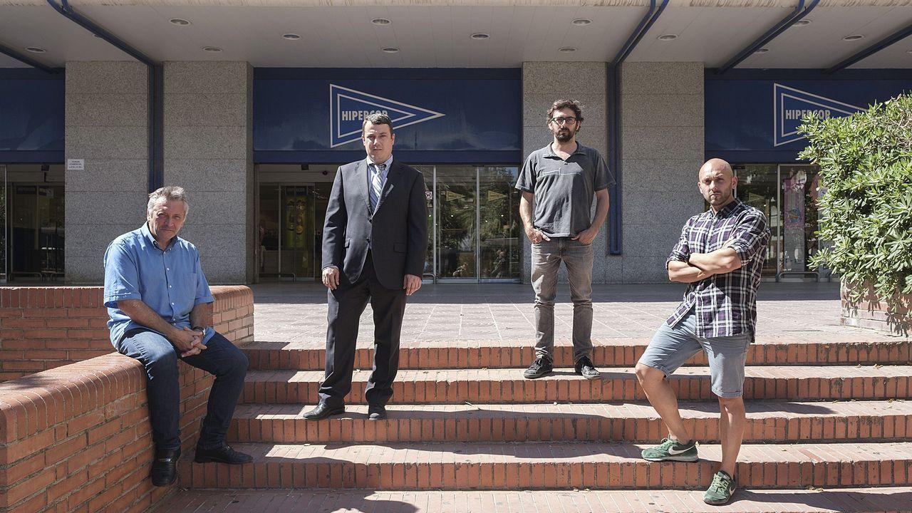 De izquierda a derecha, Roberto Manriqye, Jordi Morales, Xavier Valls y Joel