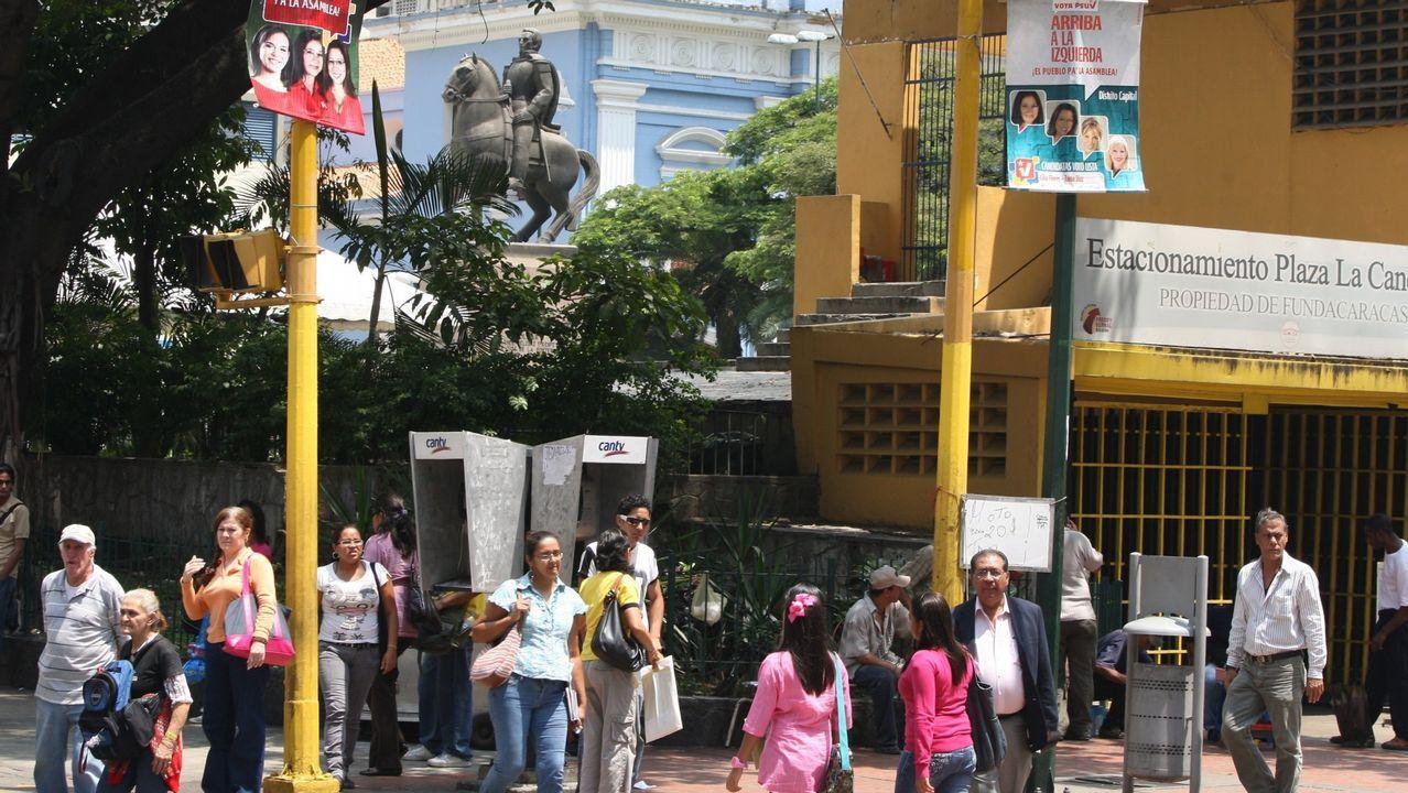 .Plaza de la Candelaria en Caracas, zona donde viven muchos gallegos