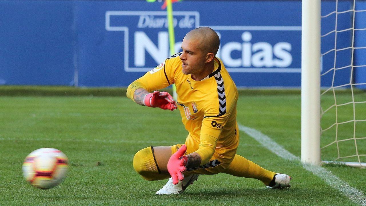 Carlos Fernández marcó el primer gol deportivista del pasado sábado