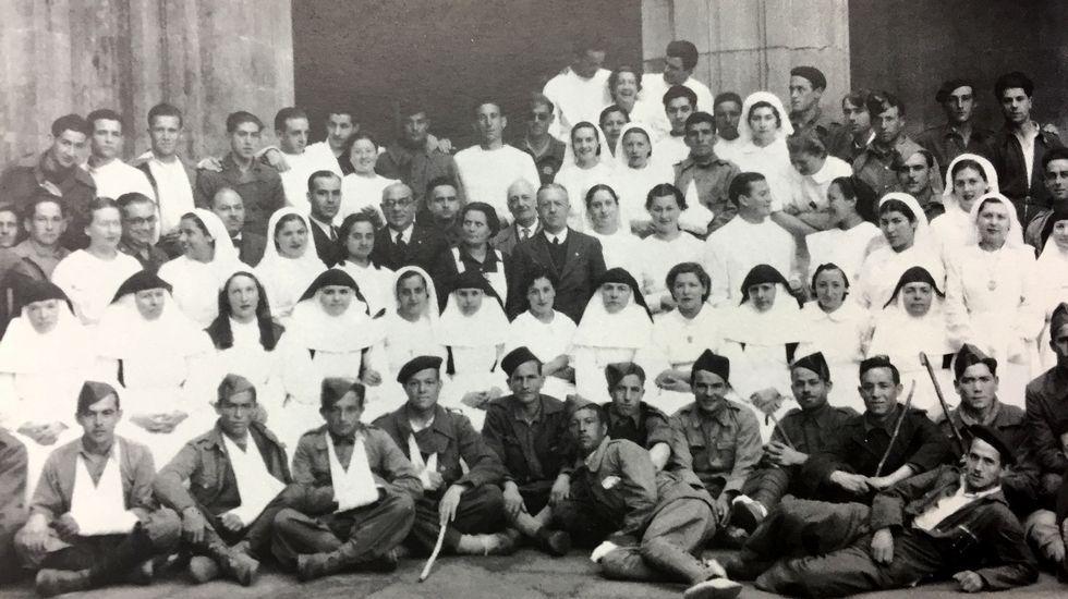En 1937 se instaló en el edificio del colegio un hospital militar que permaneció abierto hasta el final de la Guerra Civil