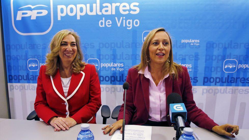 Mercedes Fernández, en el comité nacional del PP.Mercedes Fernández, en el comité nacional del PP