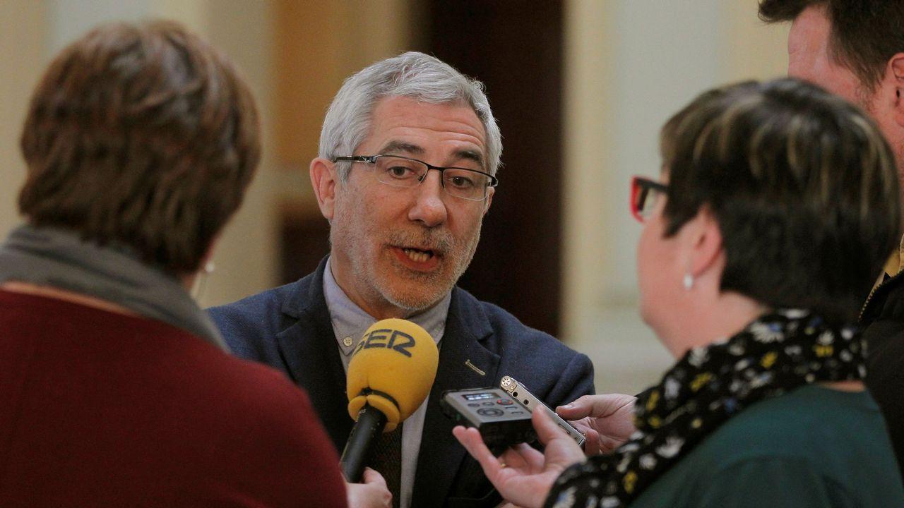 El portavoz de IU en el parlamento asturiano, Gaspar Llamazares