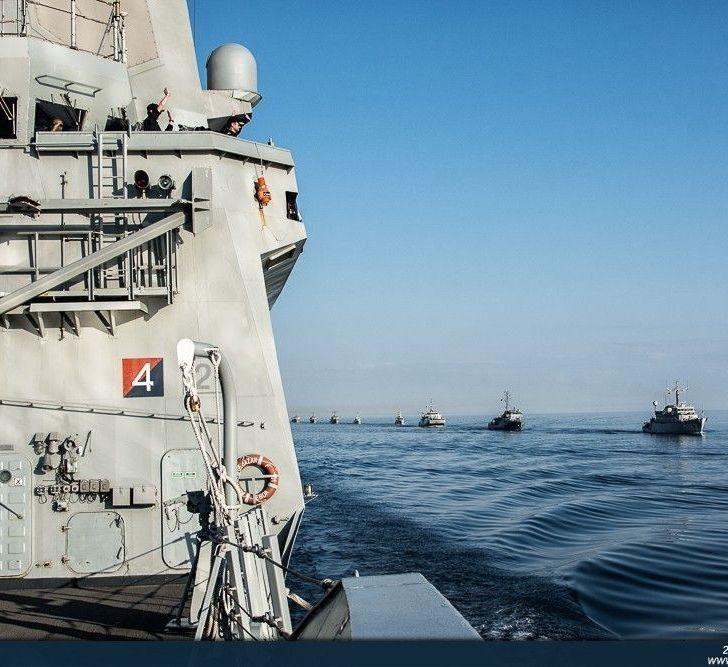 .Un momento del ejercicio Passex en el Golfo de Finlandia.