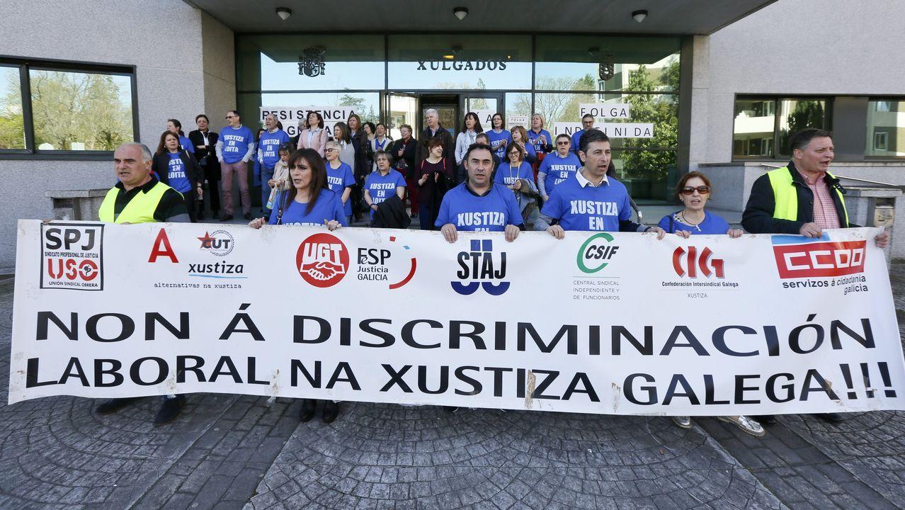 Concentración de funcionarios de Pontevedra, el viernes de la pasada semana