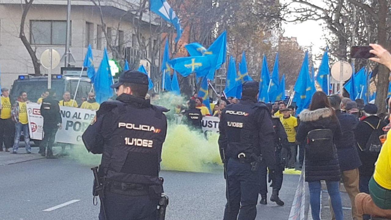 Las protestas de los trabajadores de Alcoa en Madrid