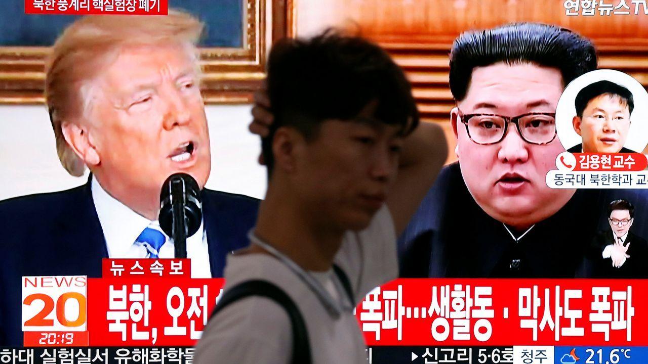 Donald Trump y Kim Jong-Un ya están en Singapur.Manifestantes en Corea del Sur contra la cancelación de la cumbre entre Piongyang y Washington