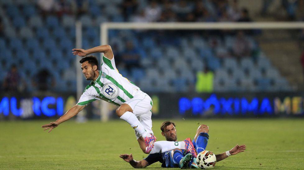 Tebas LFP Real Oviedo.Gradas vacías en el estadio del Getafe