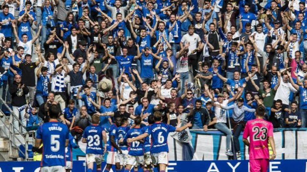 Diegui Johannesson Real Oviedo Tartiere.Celebracion del gol de Johannesson ante el Cordoba