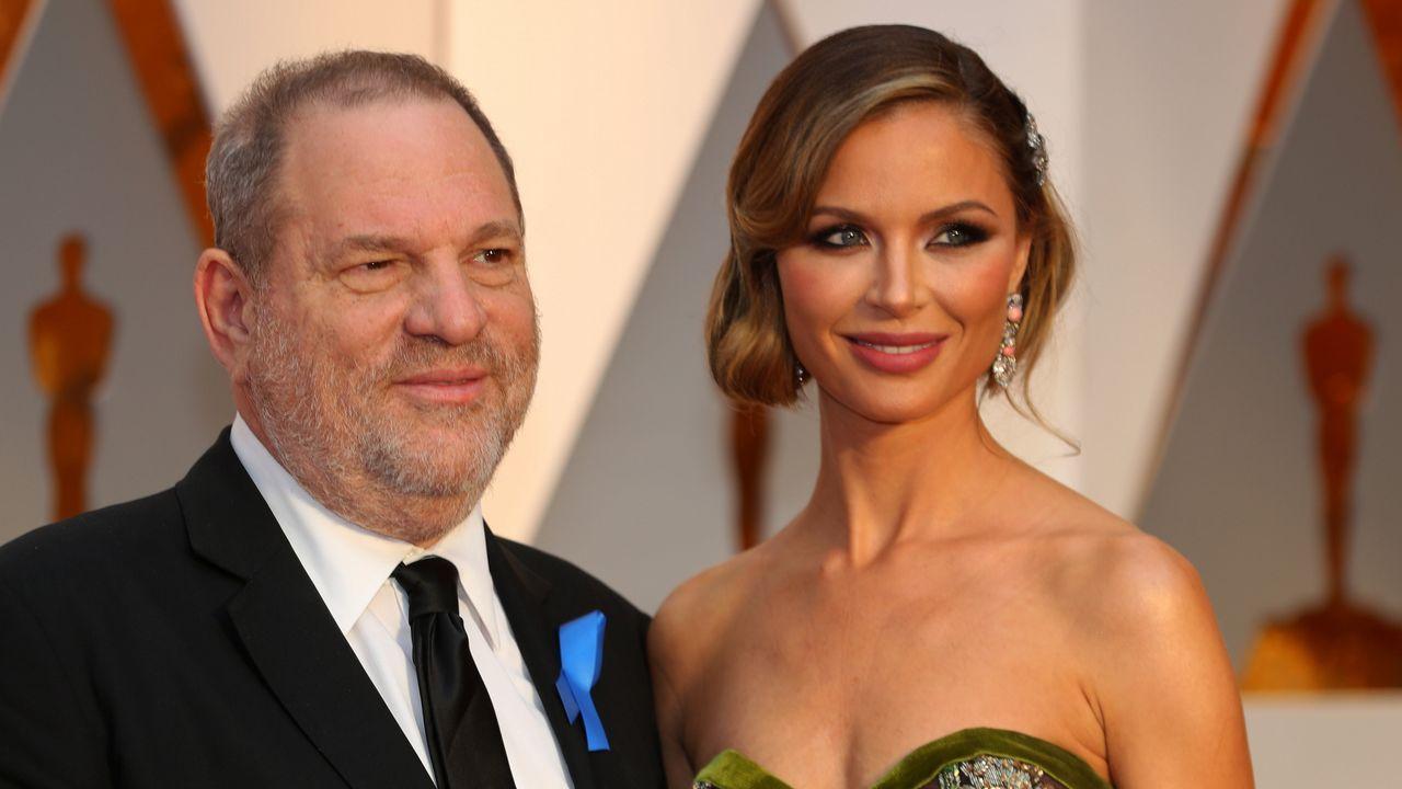 Weinstein junto a su mujer Georgina Chapman, que anunció su divorcio cuando conoció las denuncias por acoso