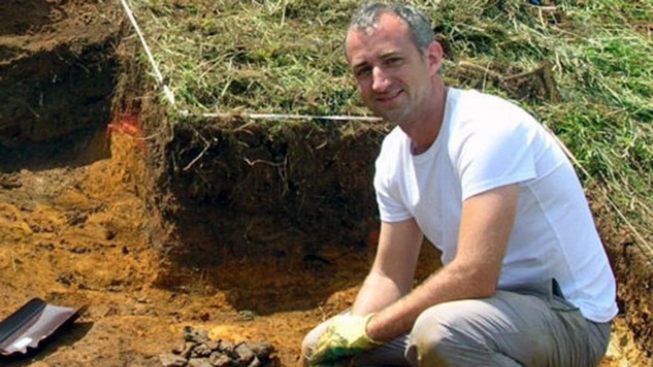 Alfonso Fanjul, arqueólogo del plan de Empleo del Ayuntamiento de Oviedo