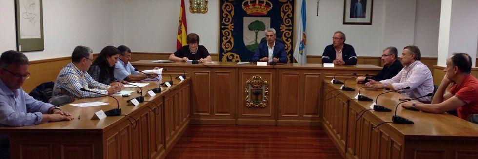 La reunión de la Mancomunidade do Camiño se celebró en O Pino.