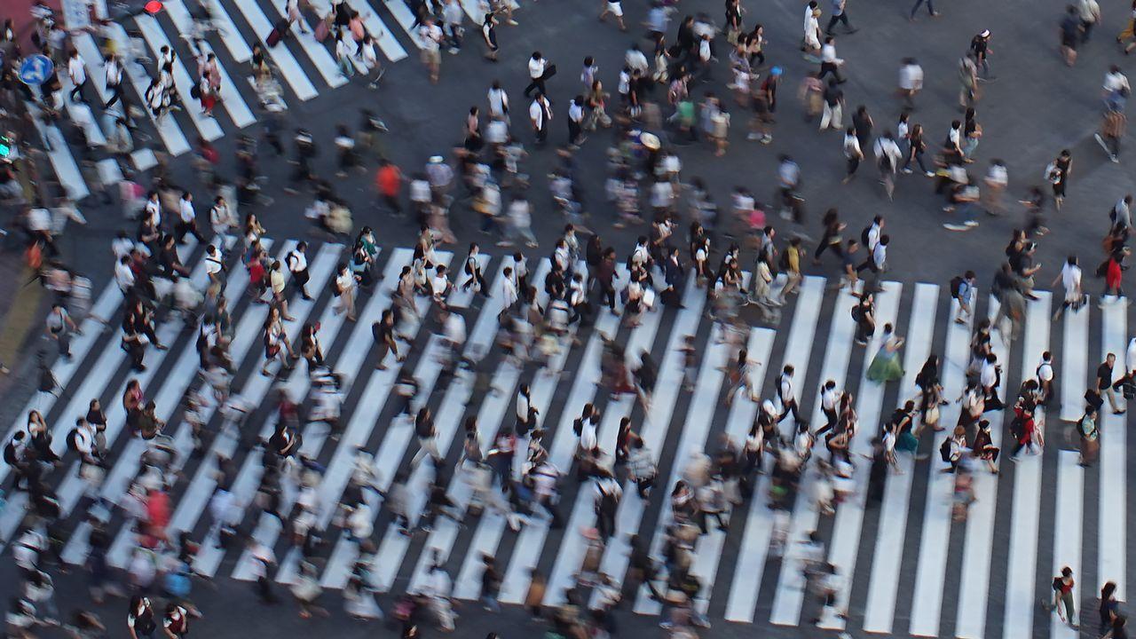 Cruce de peatones en Tokio