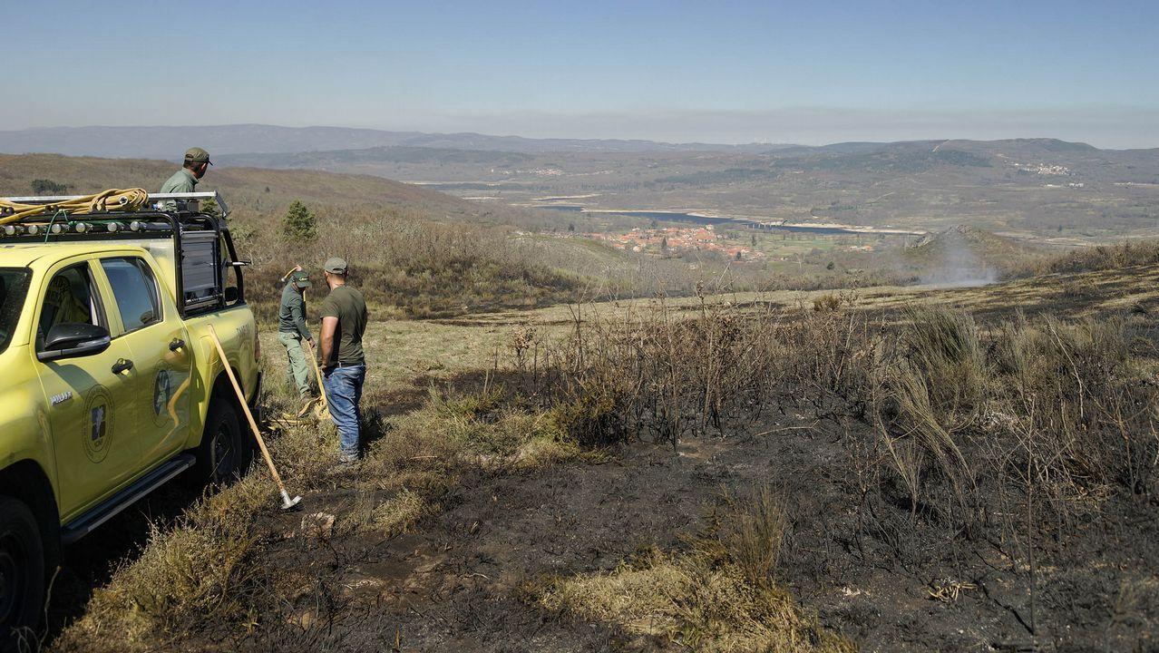 Imagen del incendio en Narahío