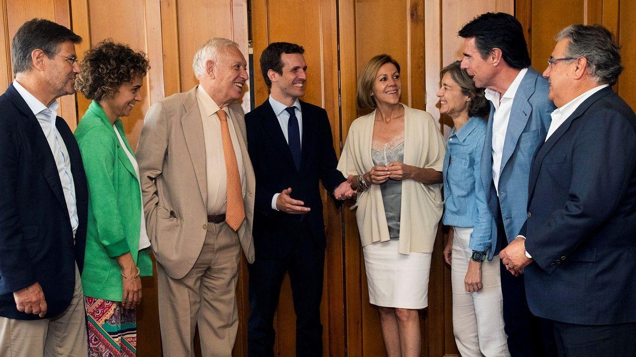 Casado organiza un almuerzo con exministros de Rajoy.Mercedes Fernández