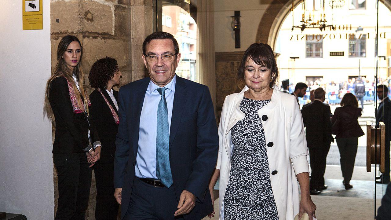Juan Vázquez.Susana Díaz en la rueda de prensa en la que anunció que liderará la oposición socialista en Andalucía