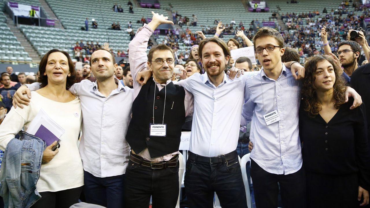 El movimiento de Errejón y Carmena provoca una nueva crisis en Podemos.Echenique e Iglesias, el pasado septiembre en Madrid