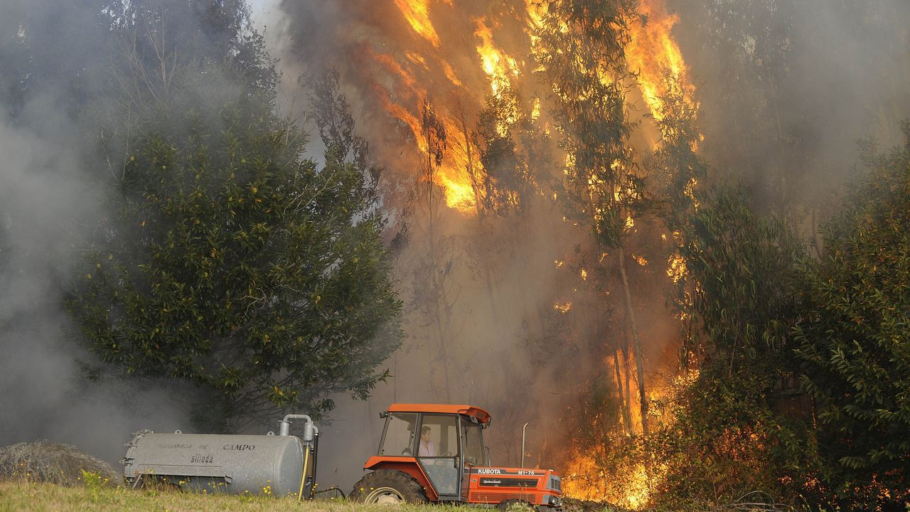 «No hay suficientes efectivos para hacer frente a estos incendios»
