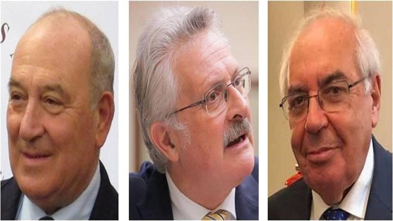 El rector de la Universidad de Oviedo, Santiago García Granda.Juan Luis Rodríguez-Vigil Rubio, Antonio Trevín Lombán y Vicente Álvarez Areces