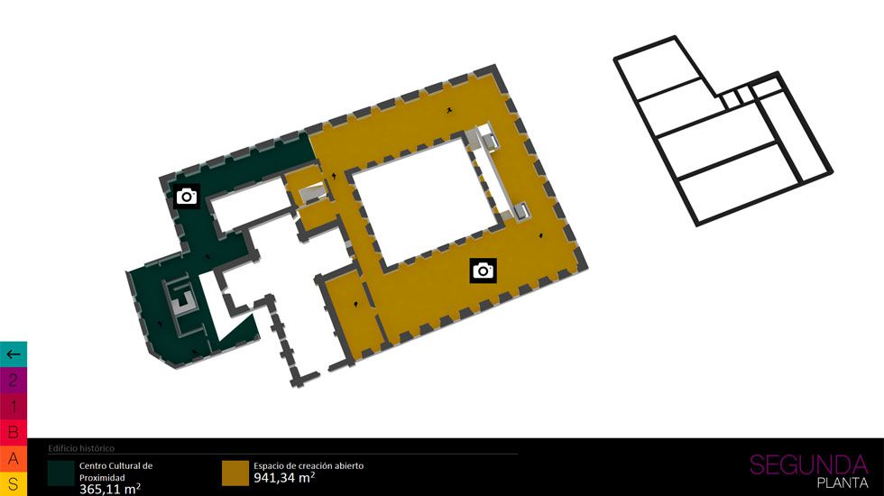 Simulación de un área expositiva