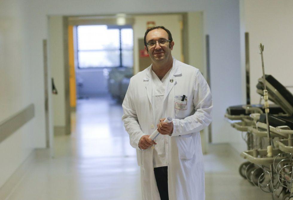 .Pedro Landeira en la redacción de La Voz en A Coruña.