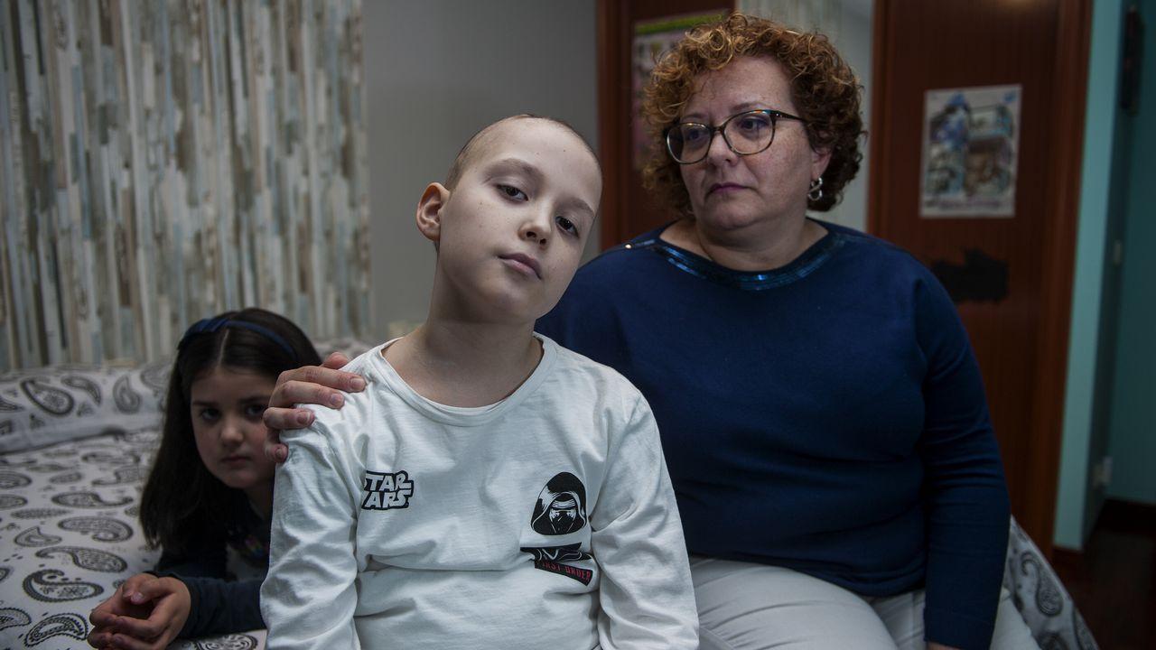 Noel niño de Betanzos enfermo de cáncer