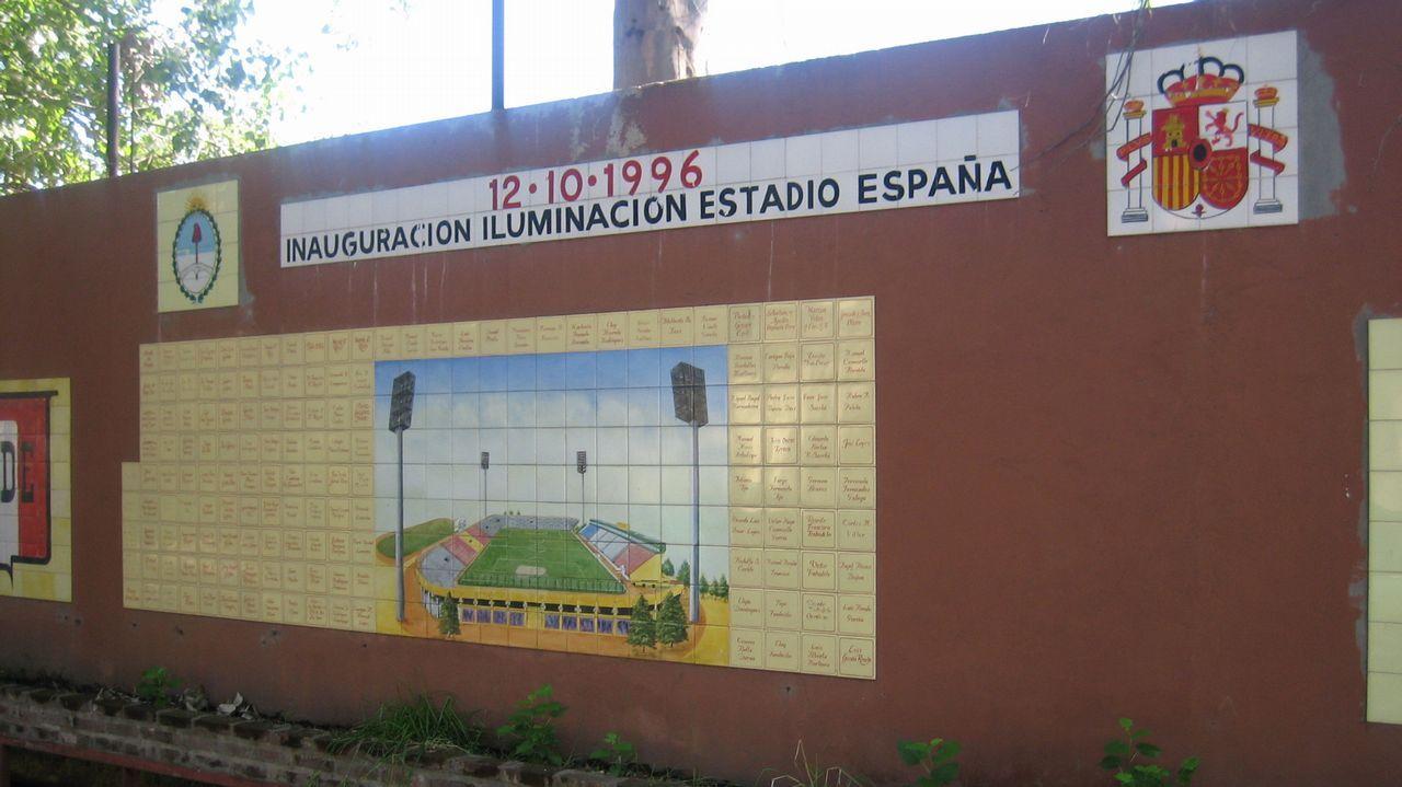Un mural del estadio del Club Español, en una imagen de archivo