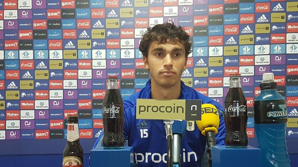 Lucas Torró durante la rueda de prensa de esta mañana