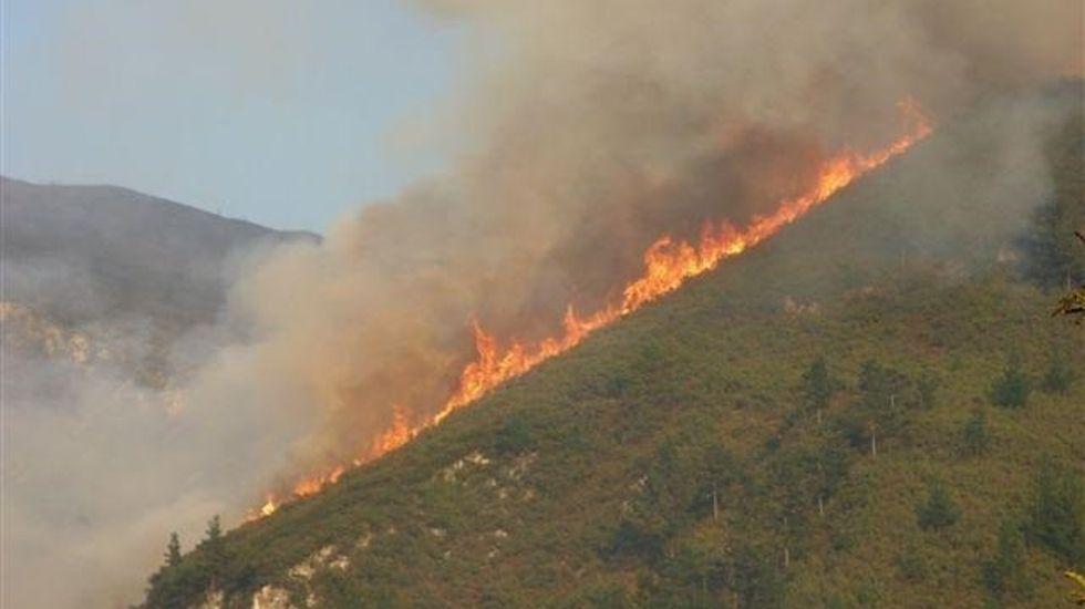 Fuego en Asturias.Fuego en Asturias