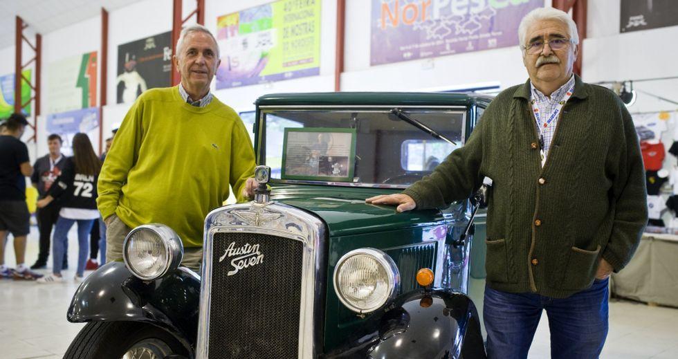 .Luis Taboada y Carlos Cagiao mantienen el contacto con la actual directiva de la escudería automovilística ferrolana.