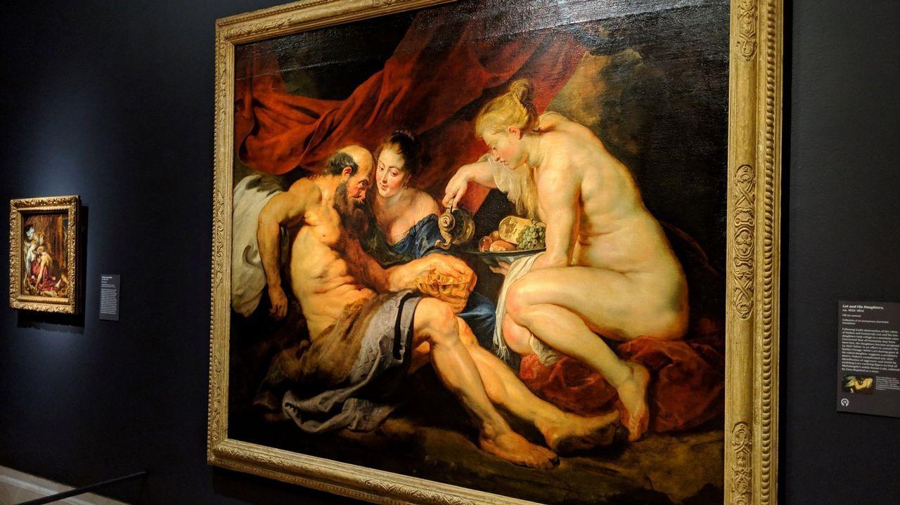 La pintura 'Lot y sus hijas' de Rubens refleja el canon femenino de la época: mujeres voluminosas y de piel pálida