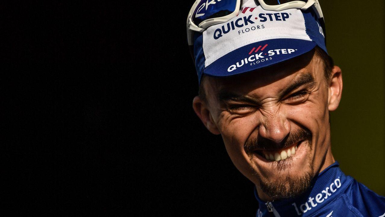 El vencedor de la etapa entre Annecy y Le Grand Bornand en el Tour de Francia, Julian Alaphilippe