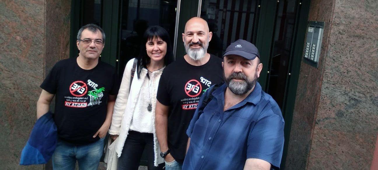 Algunos fundadores del sindicato Sitta, entre ellos Fernando Fanjul y Antonio Navarro