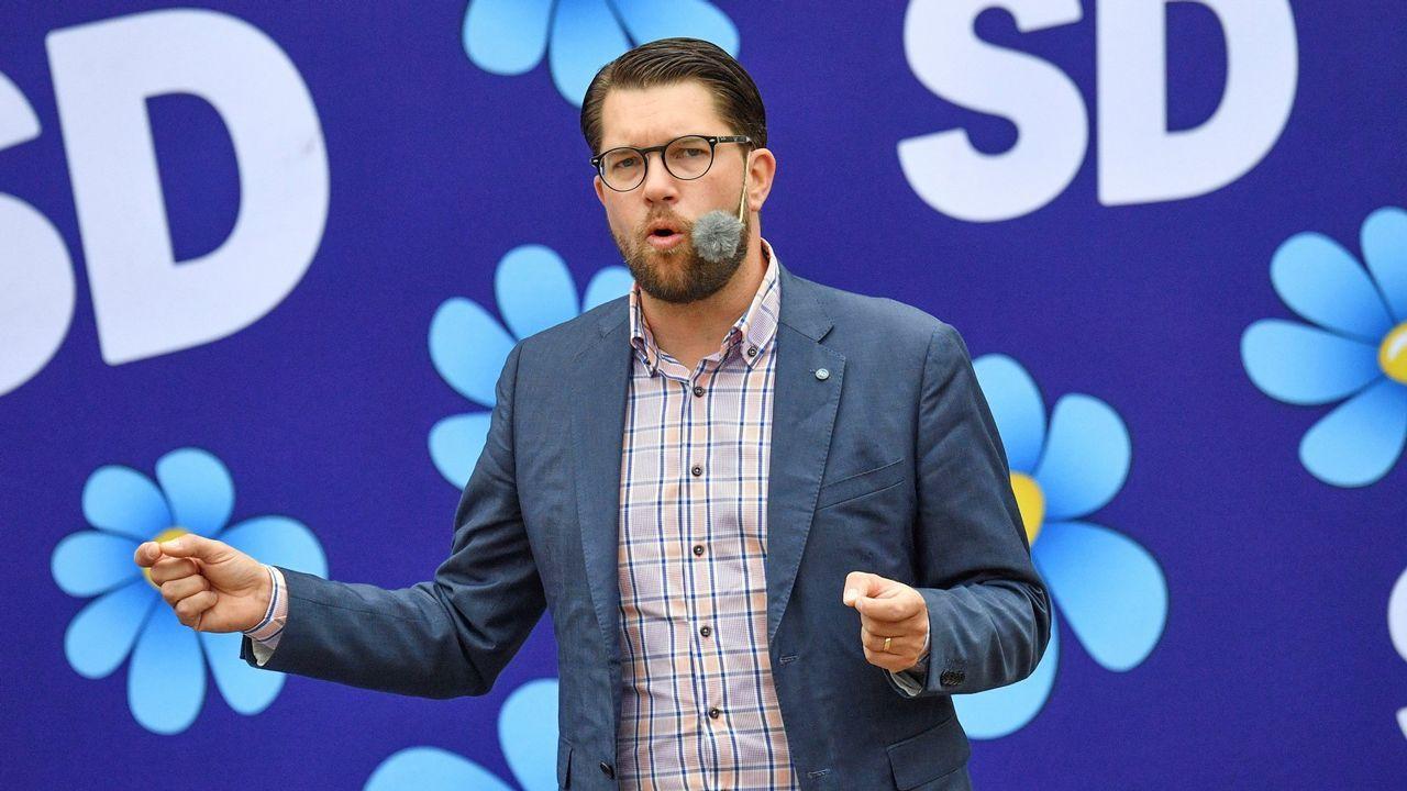 Empate técnico en Suecia entre los socialdemócratas y la derecha con la ultraderecha como tercera fuerza.Jimmie Akesson