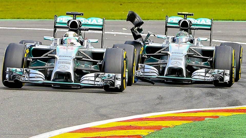 El Gran Premio de Italia, en imágenes.El roce entre Rosberg y Hamilton